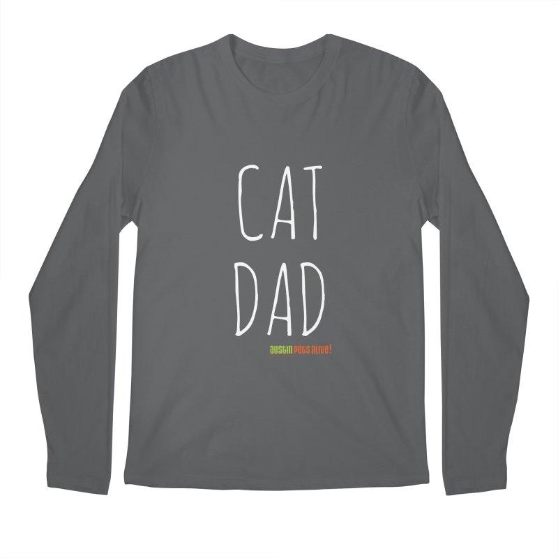 Cat Dad Men's Longsleeve T-Shirt by Austin Pets Alive's Artist Shop