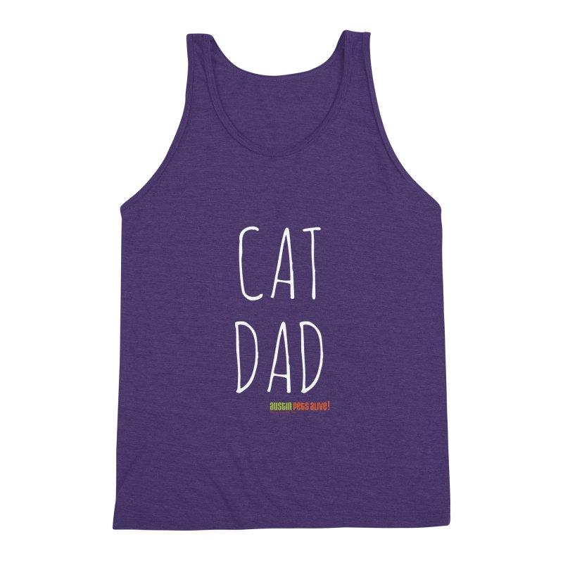 Cat Dad Men's Triblend Tank by austinpetsalive's Artist Shop