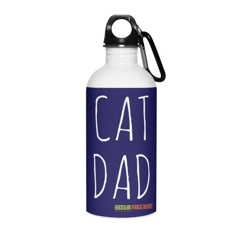 Cat Dad Accessories Water Bottle by austinpetsalive's Artist Shop