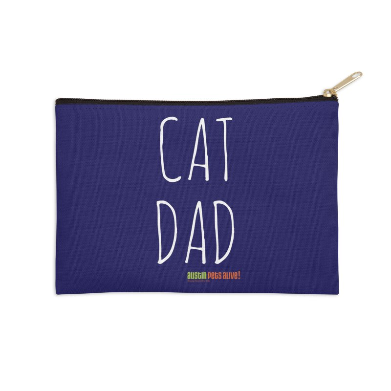 Cat Dad Accessories Zip Pouch by austinpetsalive's Artist Shop
