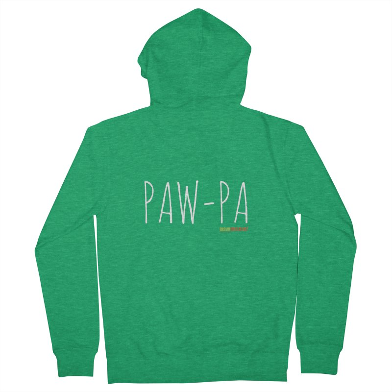 Paw-Pa Men's Zip-Up Hoody by Austin Pets Alive's Artist Shop