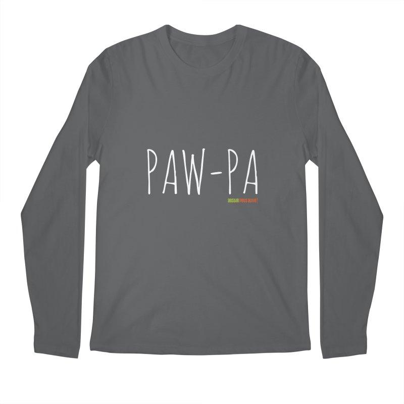 Paw-Pa Men's Longsleeve T-Shirt by Austin Pets Alive's Artist Shop