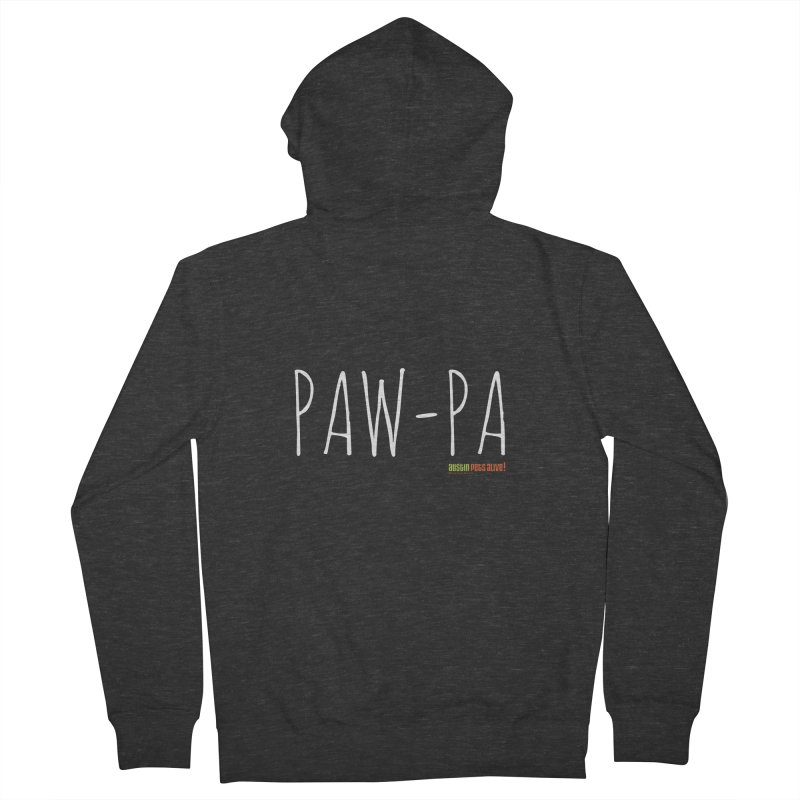 Paw-Pa Men's French Terry Zip-Up Hoody by Austin Pets Alive's Artist Shop