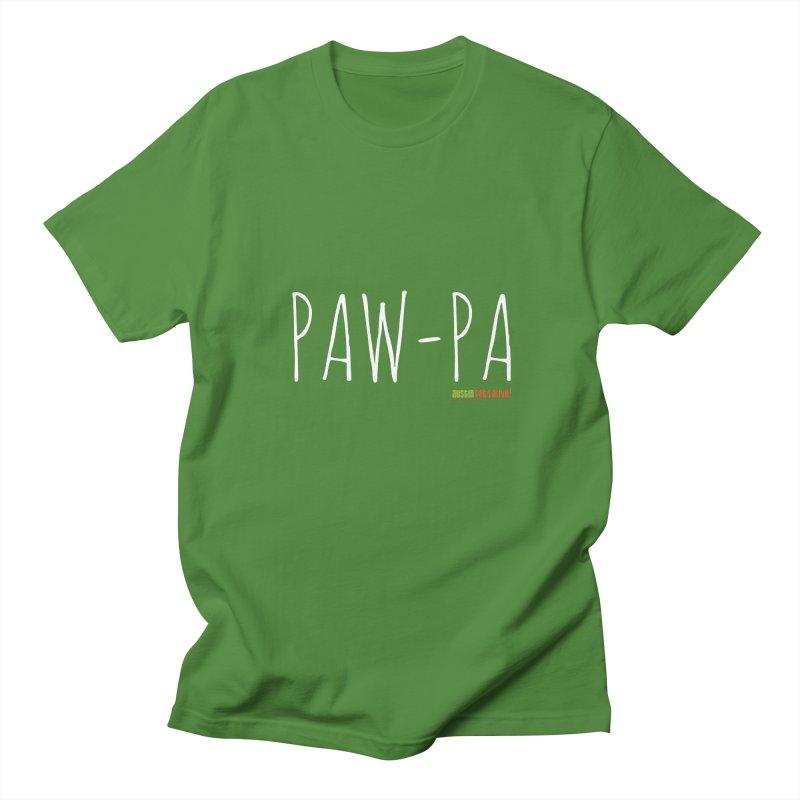 Paw-Pa Men's Regular T-Shirt by austinpetsalive's Artist Shop