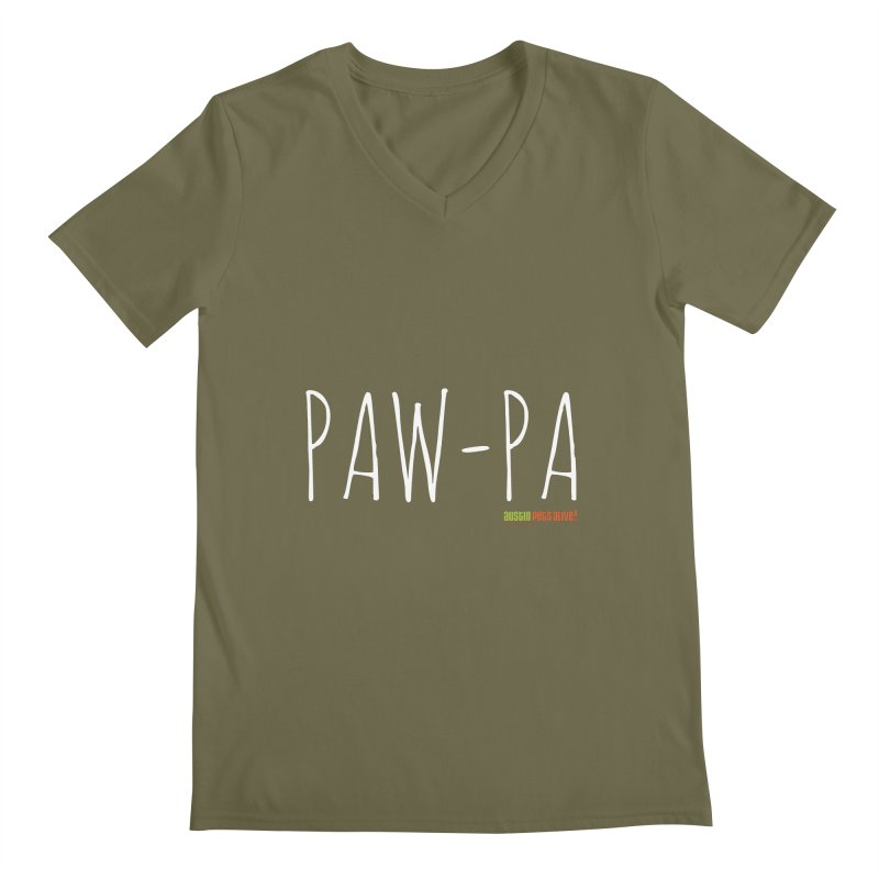 Paw-Pa Men's V-Neck by austinpetsalive's Artist Shop