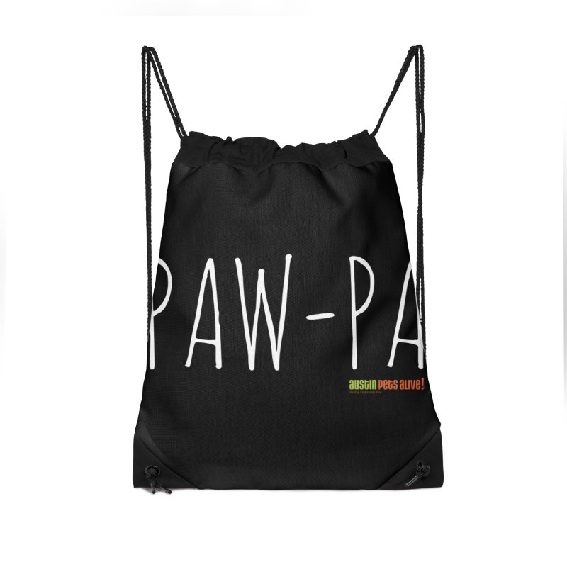 Paw-Pa Accessories Drawstring Bag Bag by Austin Pets Alive's Artist Shop