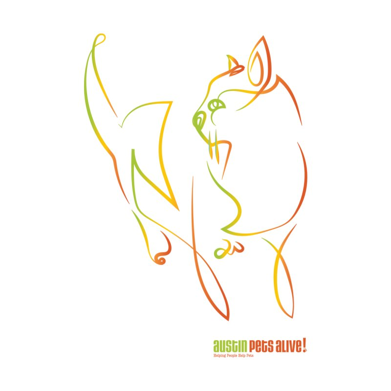 Contour Cat by Austin Pets Alive's Artist Shop