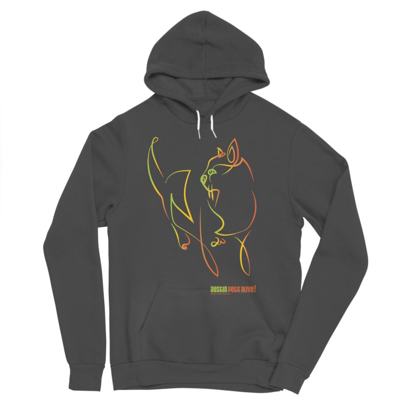 Contour Cat Men's Sponge Fleece Pullover Hoody by Austin Pets Alive's Artist Shop
