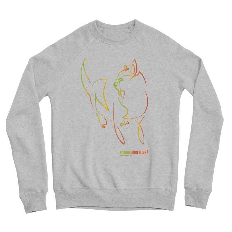 Contour Cat Men's Sponge Fleece Sweatshirt by Austin Pets Alive's Artist Shop