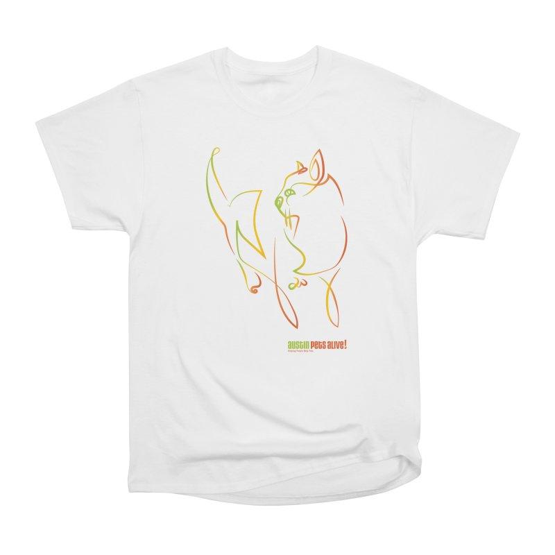 Contour Cat Men's T-Shirt by Austin Pets Alive's Artist Shop