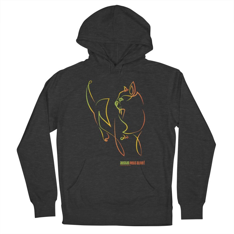 Contour Cat Men's French Terry Pullover Hoody by Austin Pets Alive's Artist Shop