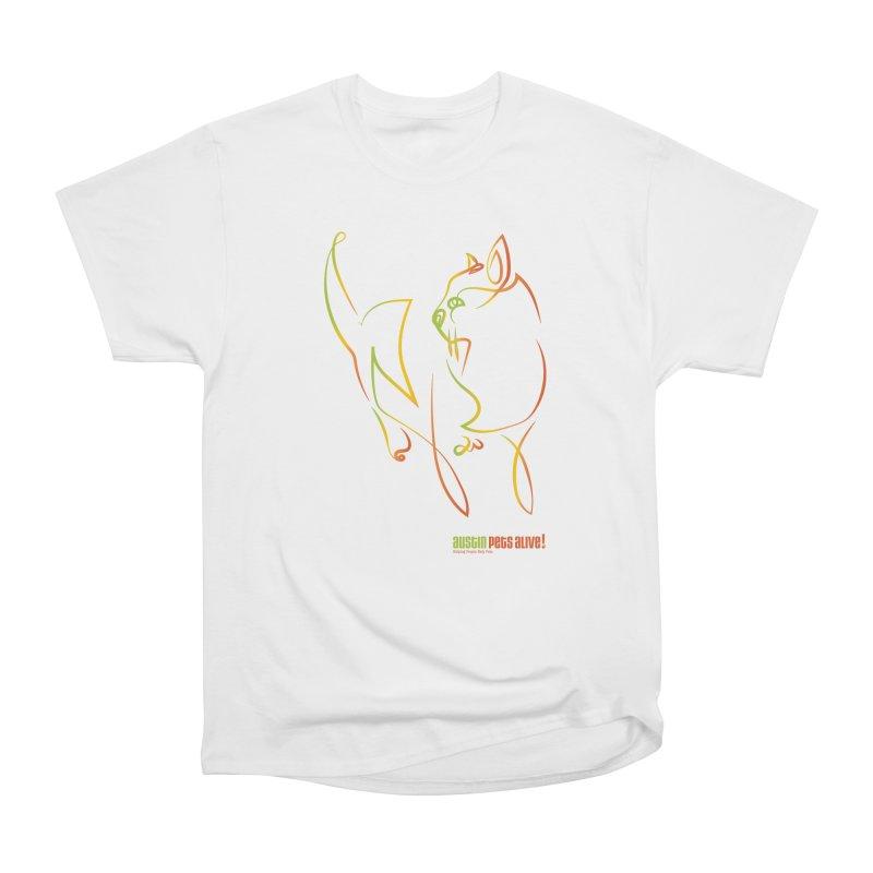 Contour Cat Women's Heavyweight Unisex T-Shirt by Austin Pets Alive's Artist Shop