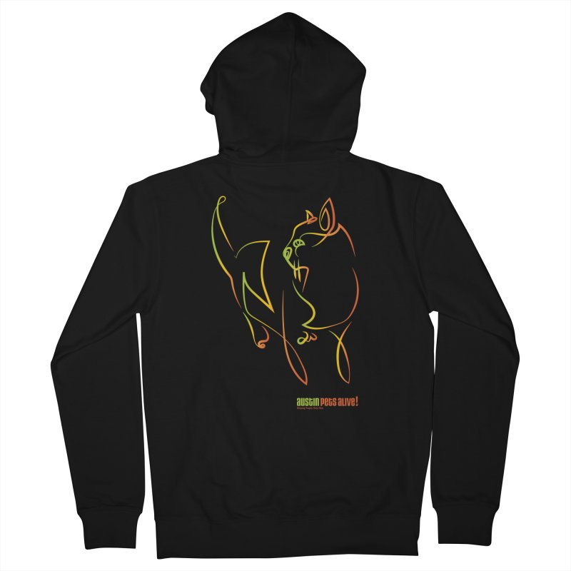 Contour Cat Women's French Terry Zip-Up Hoody by austinpetsalive's Artist Shop
