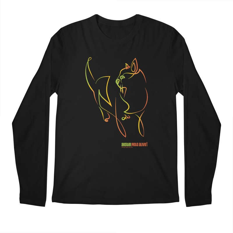 Contour Cat Men's Longsleeve T-Shirt by Austin Pets Alive's Artist Shop
