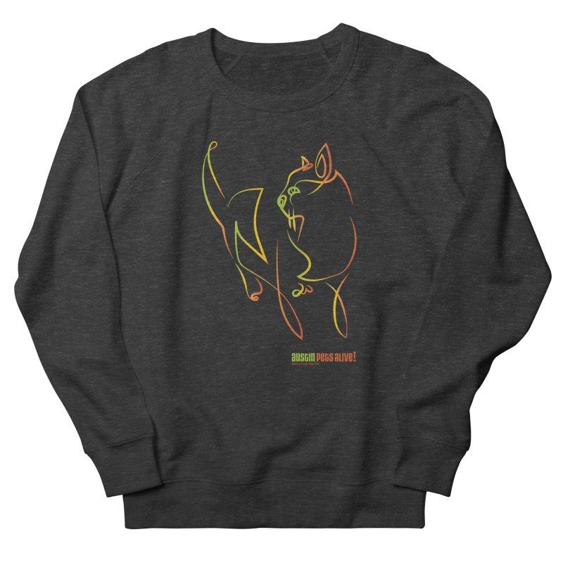 Contour Cat Men's French Terry Sweatshirt by austinpetsalive's Artist Shop