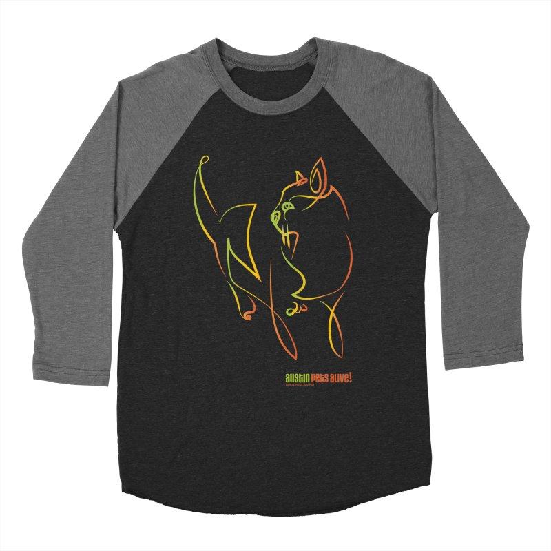 Contour Cat Women's Baseball Triblend Longsleeve T-Shirt by austinpetsalive's Artist Shop