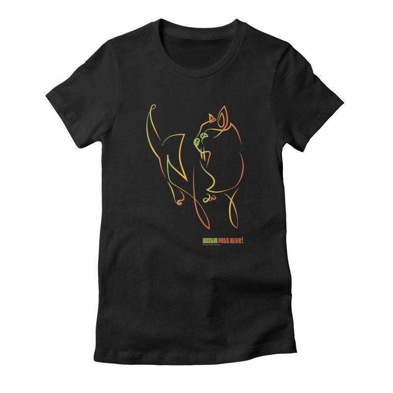 Contour Cat Women's T-Shirt by Austin Pets Alive's Artist Shop