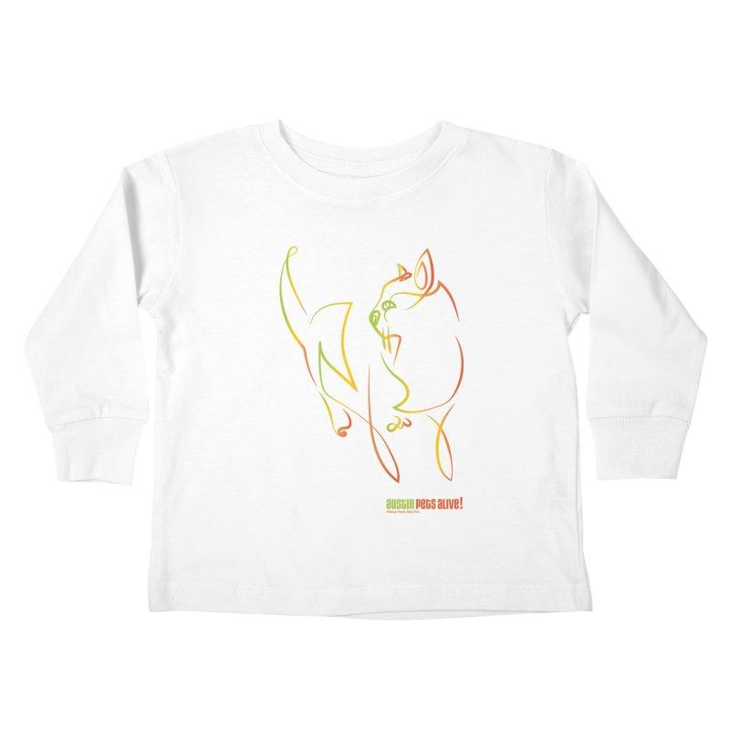Contour Cat Kids Toddler Longsleeve T-Shirt by Austin Pets Alive's Artist Shop