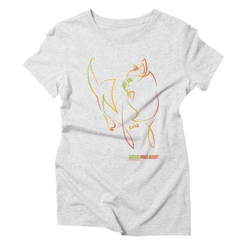 Contour Cat Women's Triblend T-Shirt by Austin Pets Alive's Artist Shop
