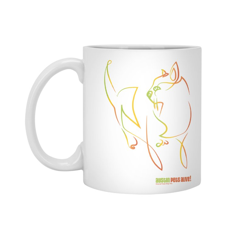 Contour Cat Accessories Standard Mug by Austin Pets Alive's Artist Shop
