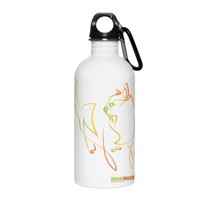 Contour Cat Accessories Water Bottle by Austin Pets Alive's Artist Shop