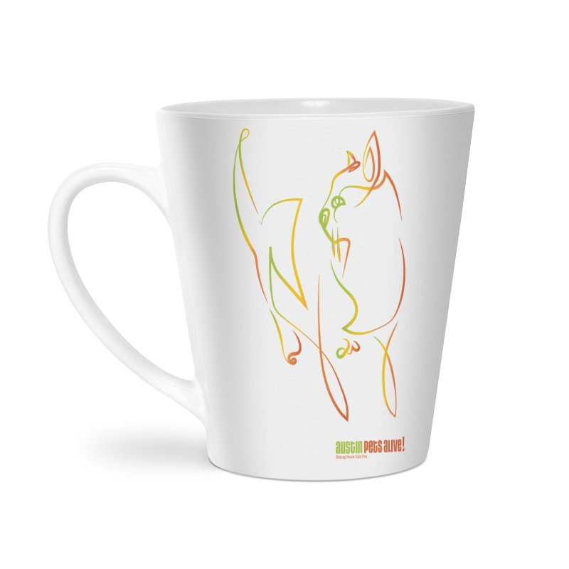 Contour Cat Accessories Latte Mug by Austin Pets Alive's Artist Shop