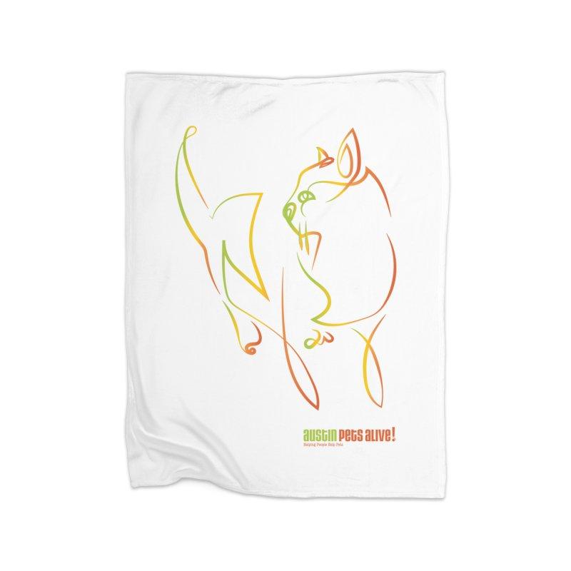 Contour Cat Home Fleece Blanket Blanket by Austin Pets Alive's Artist Shop