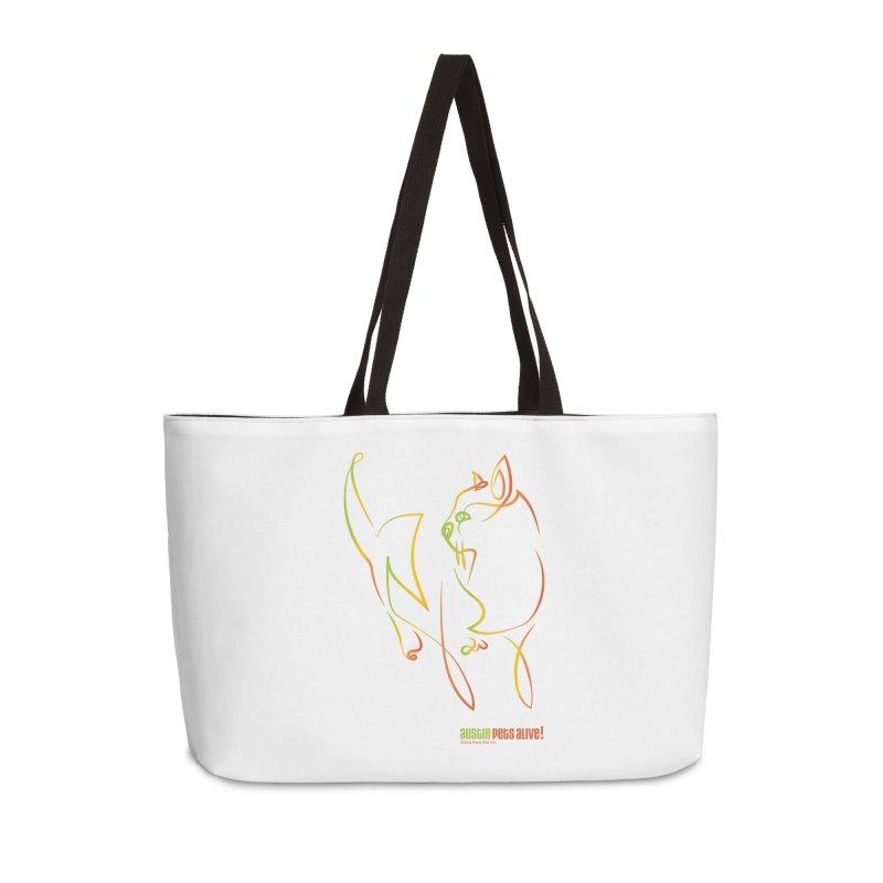 Contour Cat Accessories Weekender Bag Bag by Austin Pets Alive's Artist Shop