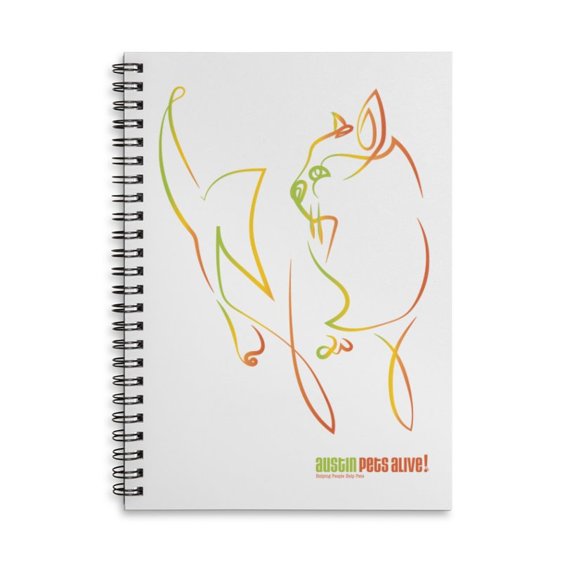 Contour Cat Accessories Lined Spiral Notebook by Austin Pets Alive's Artist Shop