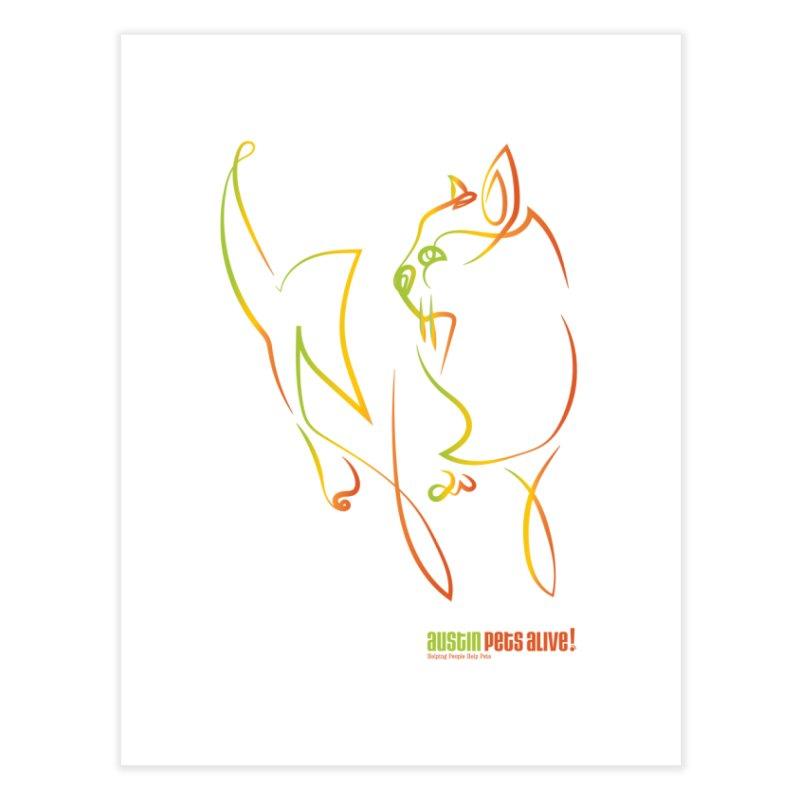 Contour Cat Home Fine Art Print by Austin Pets Alive's Artist Shop