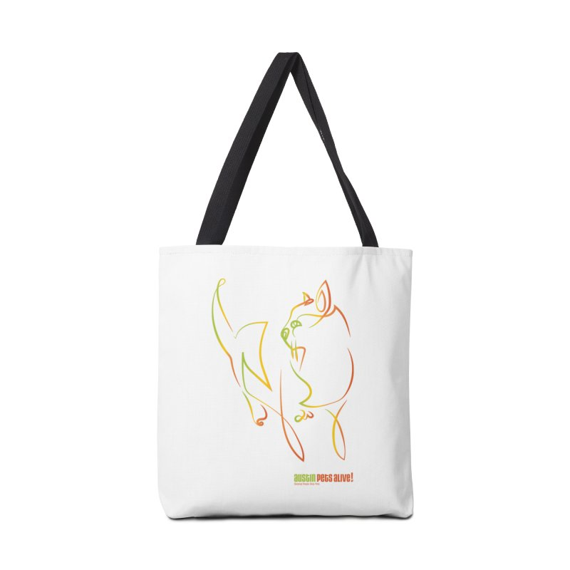 Contour Cat Accessories Tote Bag Bag by Austin Pets Alive's Artist Shop