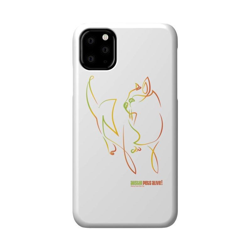 Contour Cat Accessories Phone Case by Austin Pets Alive's Artist Shop