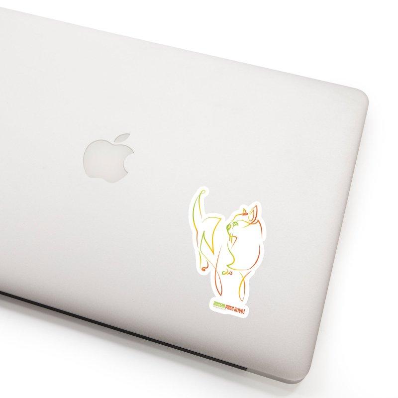 Contour Cat Accessories Sticker by Austin Pets Alive's Artist Shop