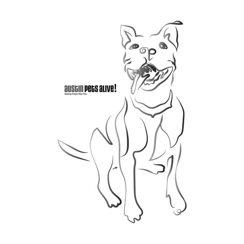 Contour Dog by Austin Pets Alive's Artist Shop