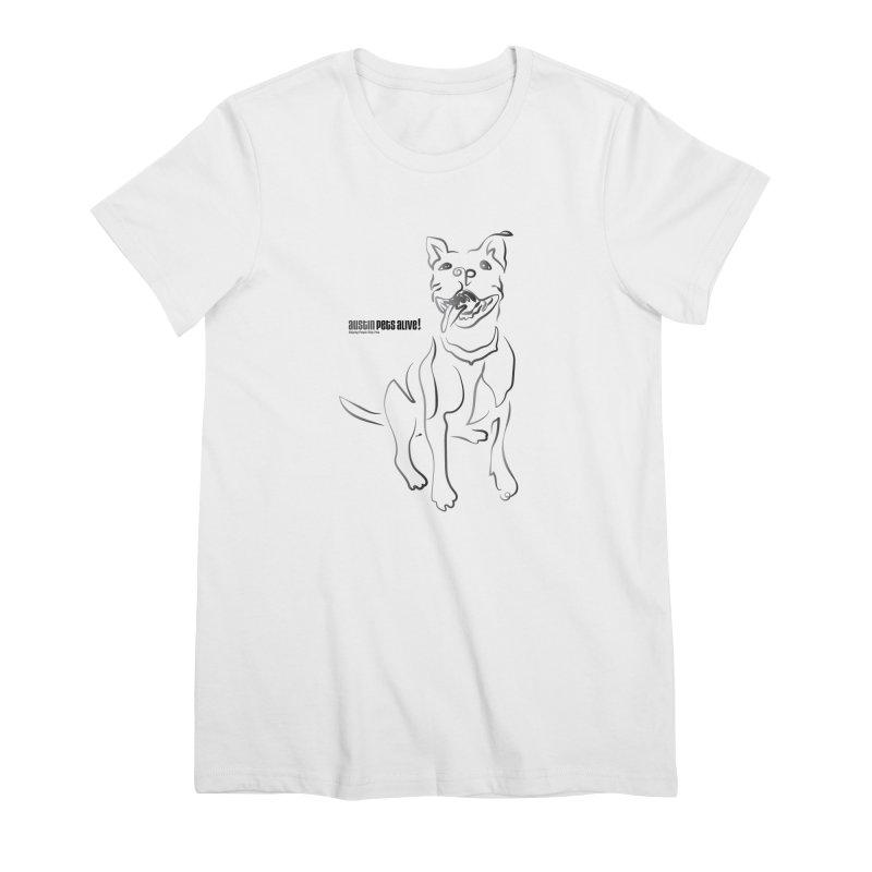 Contour Dog Women's Premium T-Shirt by Austin Pets Alive's Artist Shop