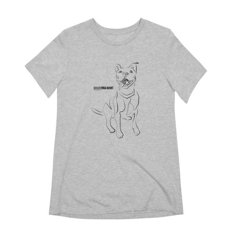 Contour Dog Women's Extra Soft T-Shirt by Austin Pets Alive's Artist Shop