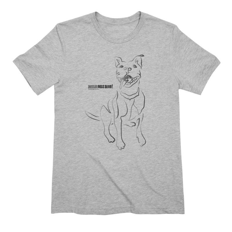 Contour Dog Men's Extra Soft T-Shirt by Austin Pets Alive's Artist Shop
