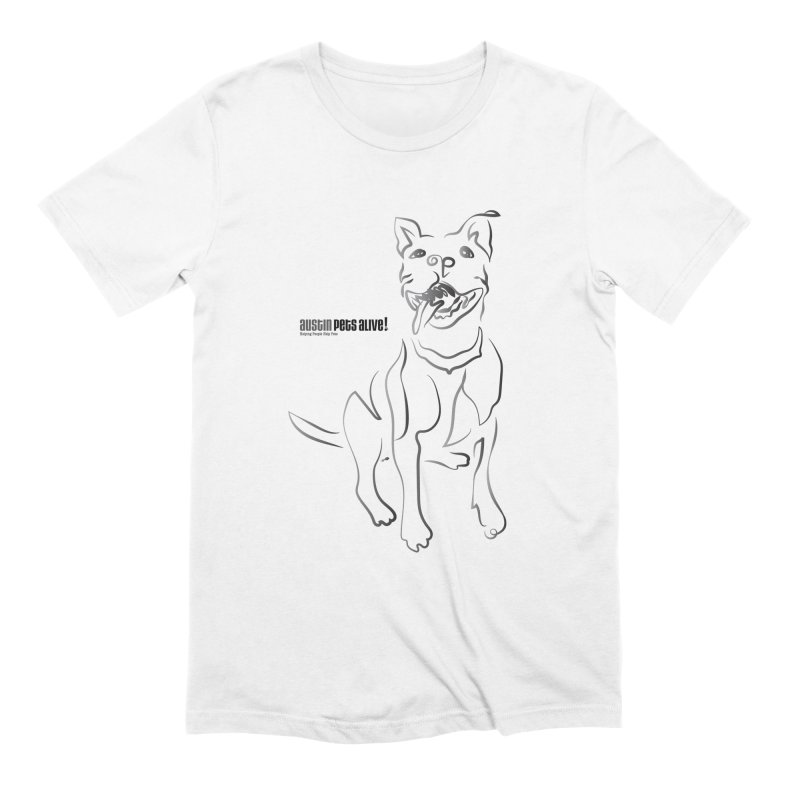 Contour Dog Men's Extra Soft T-Shirt by austinpetsalive's Artist Shop