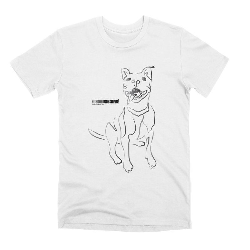 Contour Dog Men's Premium T-Shirt by austinpetsalive's Artist Shop