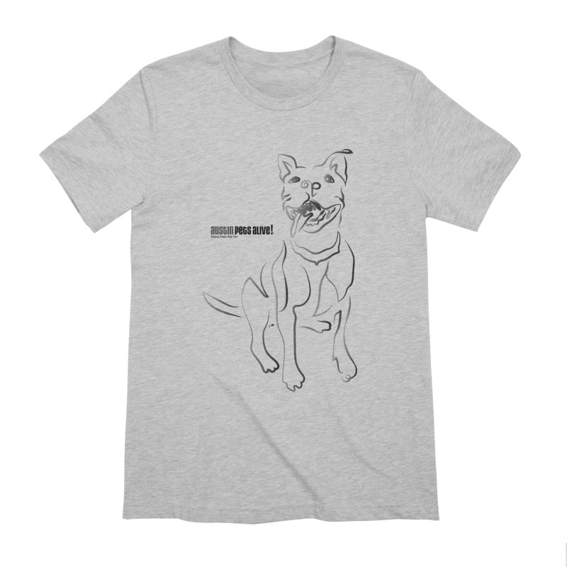 Contour Dog Men's Extra Soft T-Shirt by Austin Pets Alive's Artist Shop