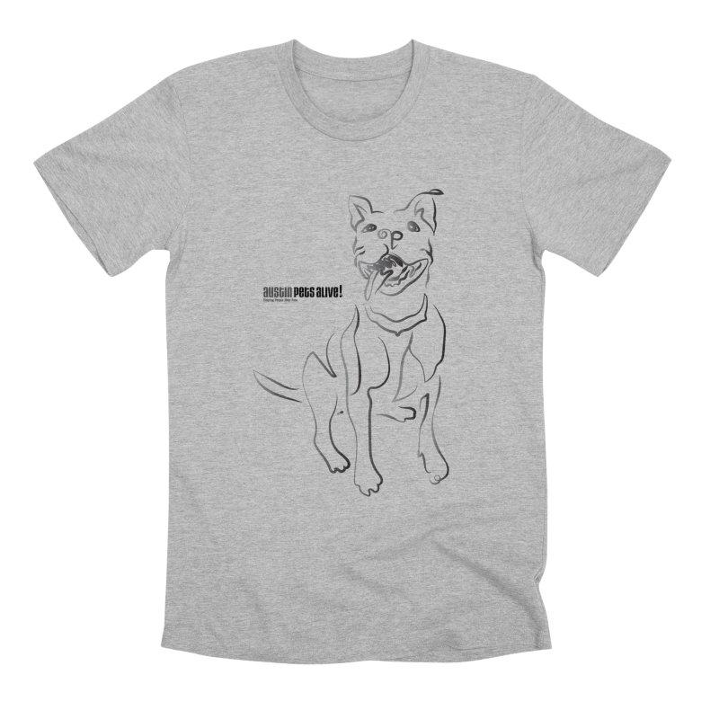 Contour Dog Men's Premium T-Shirt by Austin Pets Alive's Artist Shop