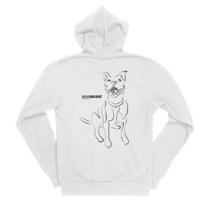 Contour Dog Women's Sponge Fleece Zip-Up Hoody by Austin Pets Alive's Artist Shop
