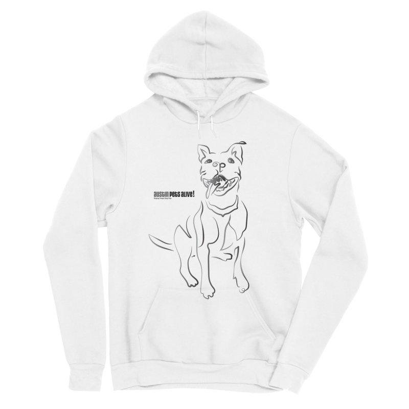 Contour Dog Women's Sponge Fleece Pullover Hoody by Austin Pets Alive's Artist Shop