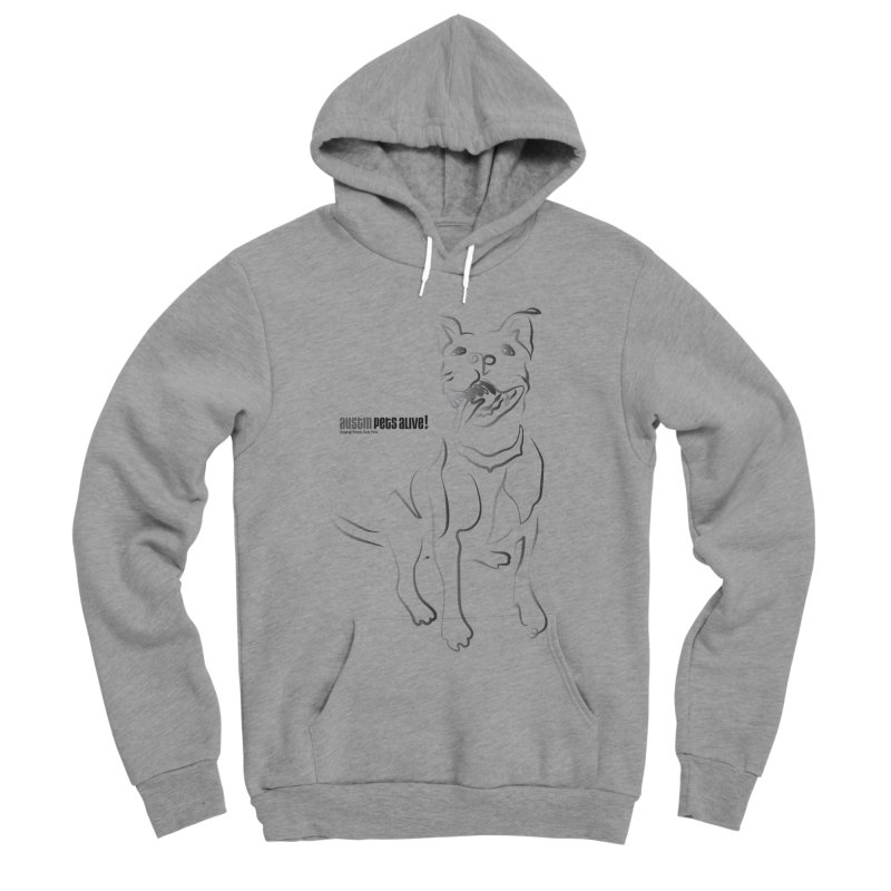 Contour Dog Men's Sponge Fleece Pullover Hoody by Austin Pets Alive's Artist Shop