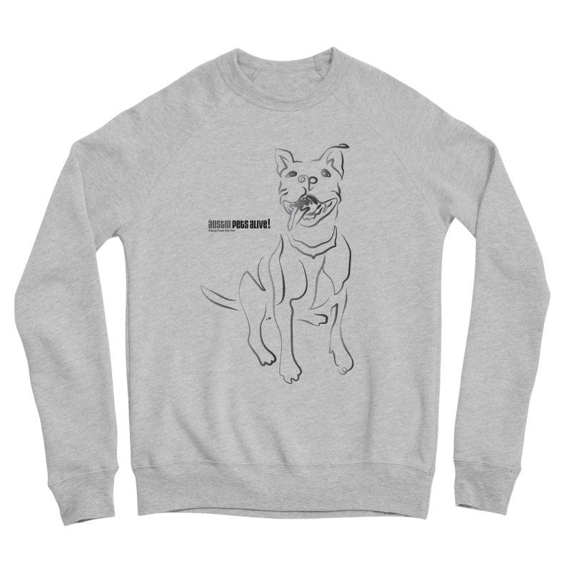Contour Dog Men's Sponge Fleece Sweatshirt by Austin Pets Alive's Artist Shop
