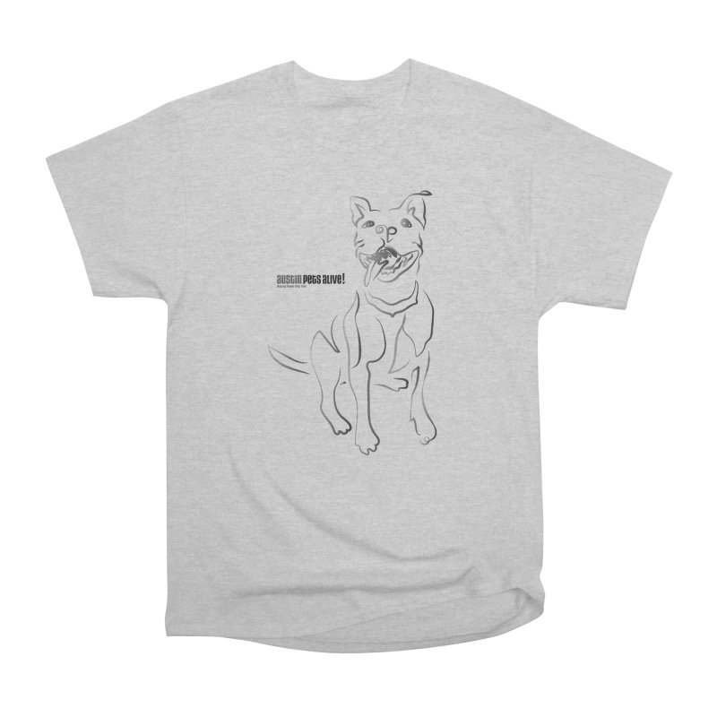 Contour Dog Men's Heavyweight T-Shirt by Austin Pets Alive's Artist Shop
