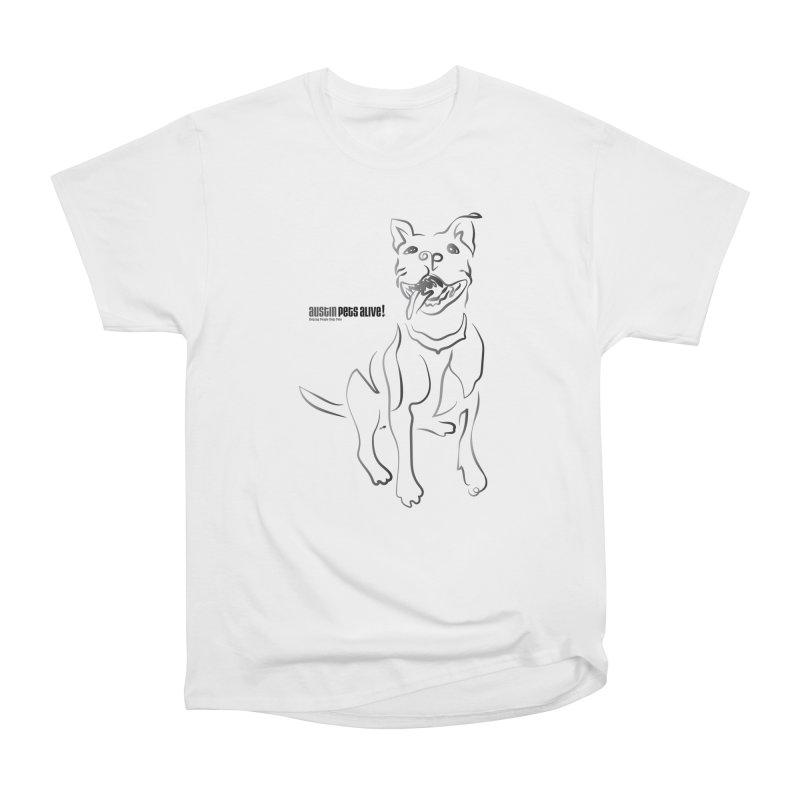 Contour Dog Women's Heavyweight Unisex T-Shirt by Austin Pets Alive's Artist Shop