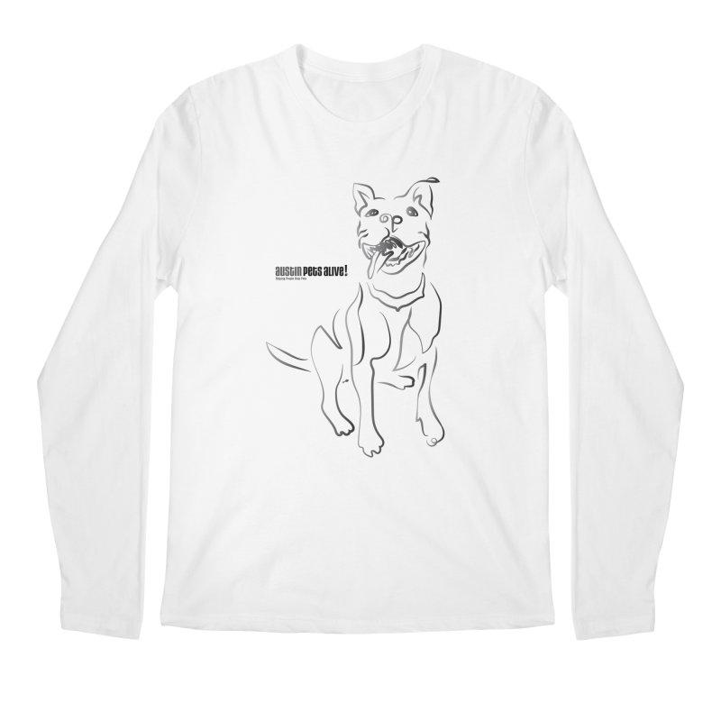 Contour Dog Men's Regular Longsleeve T-Shirt by Austin Pets Alive's Artist Shop