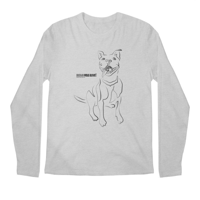 Contour Dog Men's Regular Longsleeve T-Shirt by austinpetsalive's Artist Shop