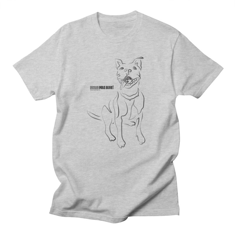 Contour Dog Men's Regular T-Shirt by Austin Pets Alive's Artist Shop